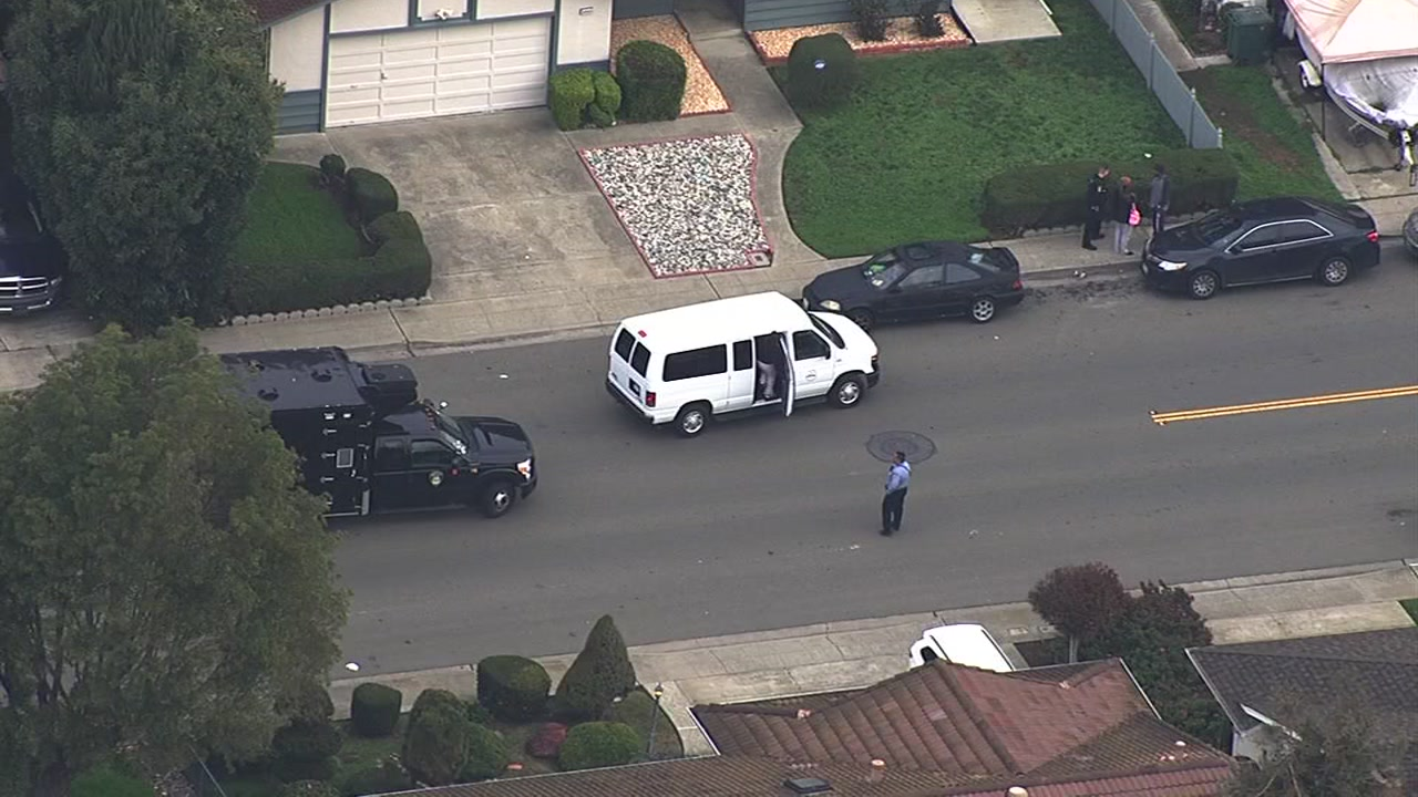 Union City police searched a home on Thursday, January 28, 2016 for a suspect connected to an assault with a deadly weapon incident.