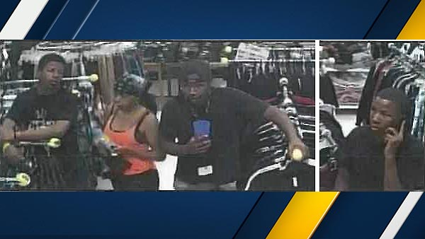 The San Bernardino County Sheriff's Department said four suspects stole more than $11,000 worth of merchandise from the Victorville Galleria on Oct. 8, 2015.