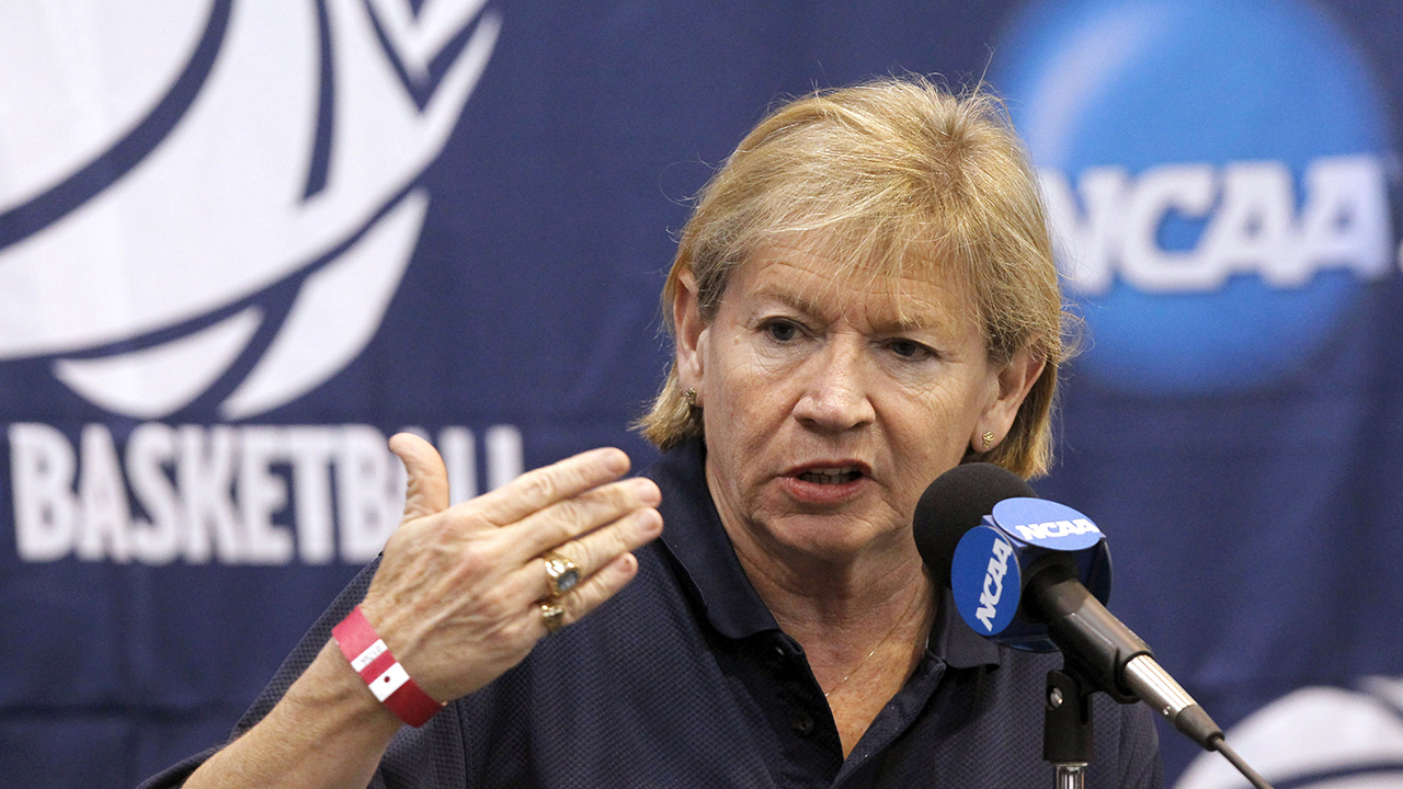 North Carolina head coach Sylvia Hatchell talks during a news conference about their second round NCAA women's college basketball game, Sunday, March 20, 2011, in Albuquerque, N.M. North Carolina faces Kentucky in a second round game on Monday.