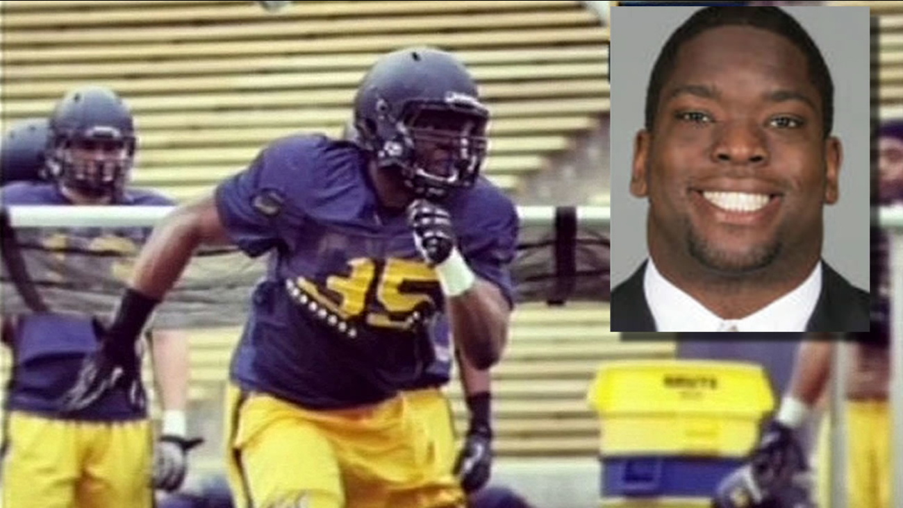 These undated images shows Ted Agu, who died after football practice in 2014 in Berkeley, Calif.