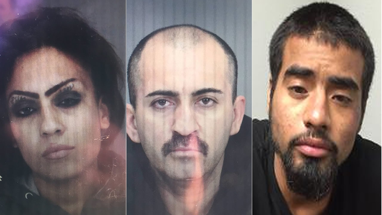 Police say Itse Murillo, 26, Christian Hernandez, 35, and Anthony Reyes, 22, were involved in the stolen car incident in Campbell, Calif.