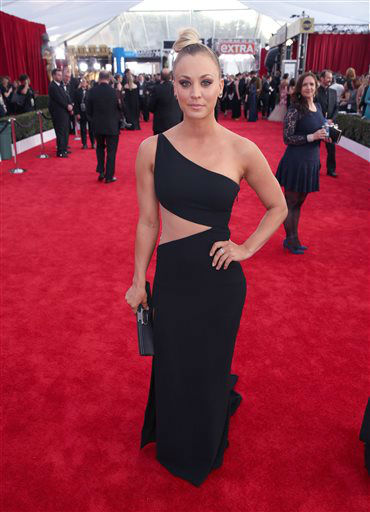 "<div class=""meta image-caption""><div class=""origin-logo origin-image none""><span>none</span></div><span class=""caption-text"">Kaley Cuoco arrives at the 22nd annual Screen Actors Guild Awards.  (Photo by Matt Sayles/Invision/AP) (Photo/Matt Sayles)</span></div>"
