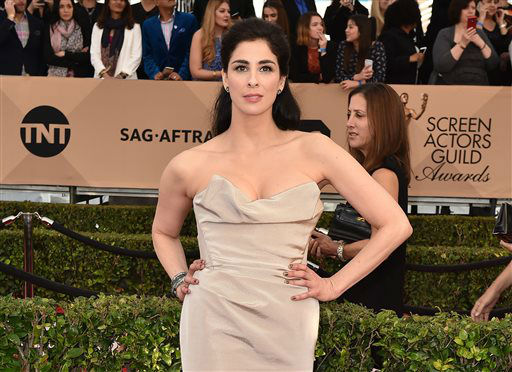 "<div class=""meta image-caption""><div class=""origin-logo origin-image none""><span>none</span></div><span class=""caption-text"">Sarah Silverman arrives at the 22nd annual Screen Actors Guild Awards. (Photo by Jordan Strauss/Invision/AP) (Photo/Jordan Strauss)</span></div>"