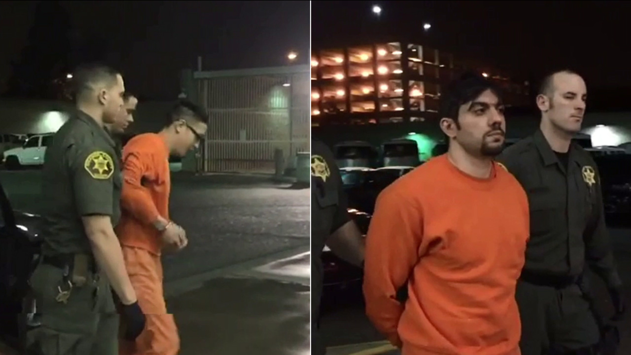 Video shows 2 escaped inmates arriving at Orange County jail