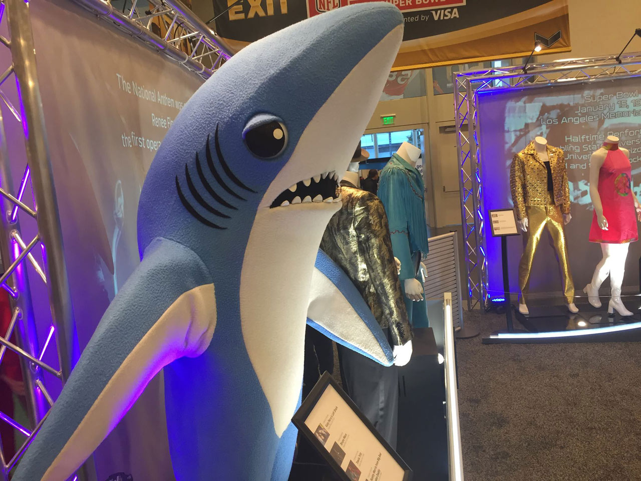 "<div class=""meta image-caption""><div class=""origin-logo origin-image none""><span>none</span></div><span class=""caption-text"">Shark from Katy Perry halftime show at Super Bowl, as seen at NFL experience in San Francisco, Sunday, January 31, 2016. (KGO-TV)</span></div>"