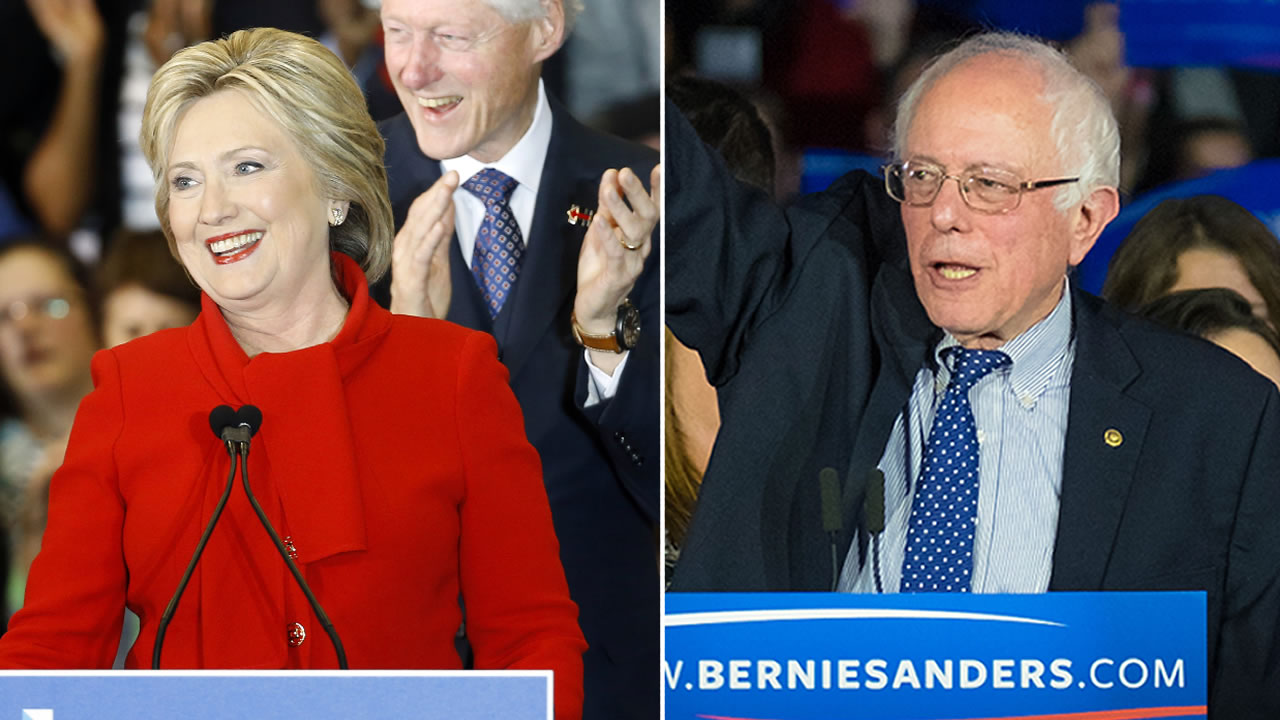 Hillary Clinton is claiming victory over Bernie Sanders in Iowa's Democratic Caucus.