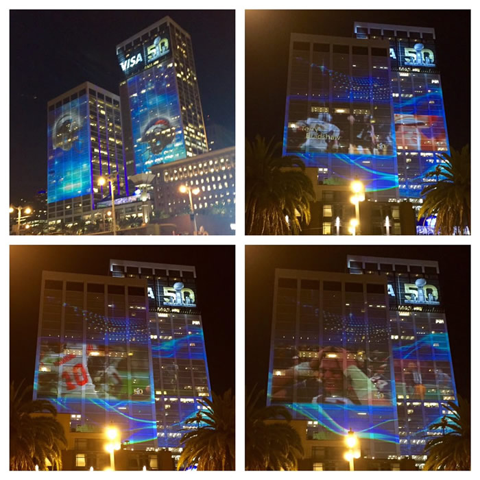 "<div class=""meta image-caption""><div class=""origin-logo origin-image none""><span>none</span></div><span class=""caption-text"">Super Bowl video feeds project onto San Francisco buildings at night on Monday, Feb. 1, 2016. (KGO-TV/Ama Daetz)</span></div>"