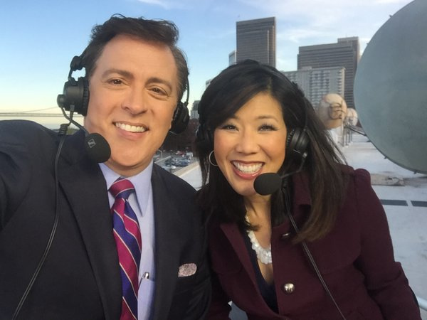 "<div class=""meta image-caption""><div class=""origin-logo origin-image none""><span>none</span></div><span class=""caption-text"">ABC7 News Anchors Dan Ashley and Kristen Sze with a spectacular view broadcasting atop the ABC7 Broadcast Center on Monday, Feb. 1, 2016. (KGO-TV/Kristen Sze)</span></div>"