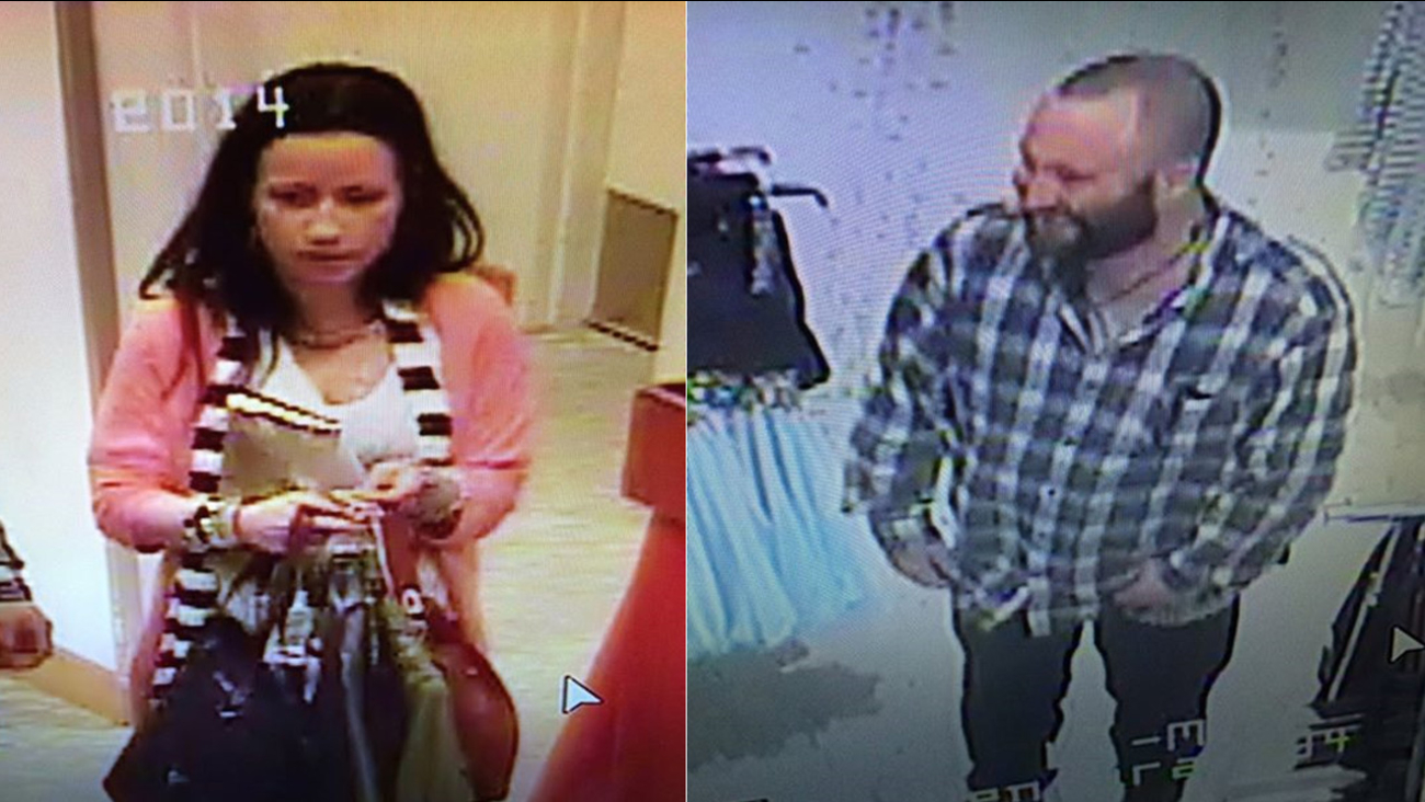 Police are searching for two suspects in connection to a high-dollar theft at a Macy's department store in the 400 block of S. Mills Road in Ventura Saturday, Jan. 30, 2016.