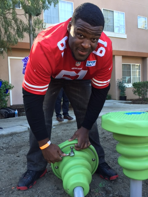 """<div class=""""meta image-caption""""><div class=""""origin-logo origin-image none""""><span>none</span></div><span class=""""caption-text"""">San Francisco 49ers were among the volunteers in action at the KaBOOM! playground build in San Jose, Calif. on Tuesday, February 2, 2016. (KGO-TV)</span></div>"""