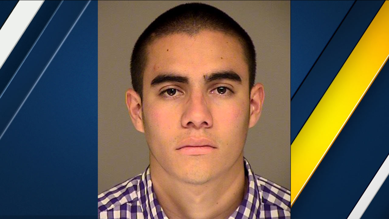 David Paul Sanchez, 21, of Ventura, is seen in a booking photo from the Ventura Police Department.