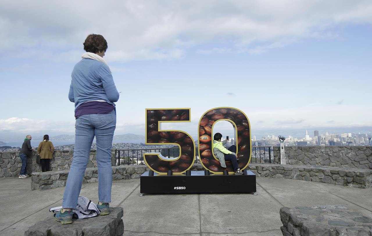 "<div class=""meta image-caption""><div class=""origin-logo origin-image none""><span>none</span></div><span class=""caption-text"">A Super Bowl 50 sign decorates a lookout point at Twin Peaks in San Francisco, Tuesday, Feb. 2, 2016. (AP/Jeff Chiu)</span></div>"