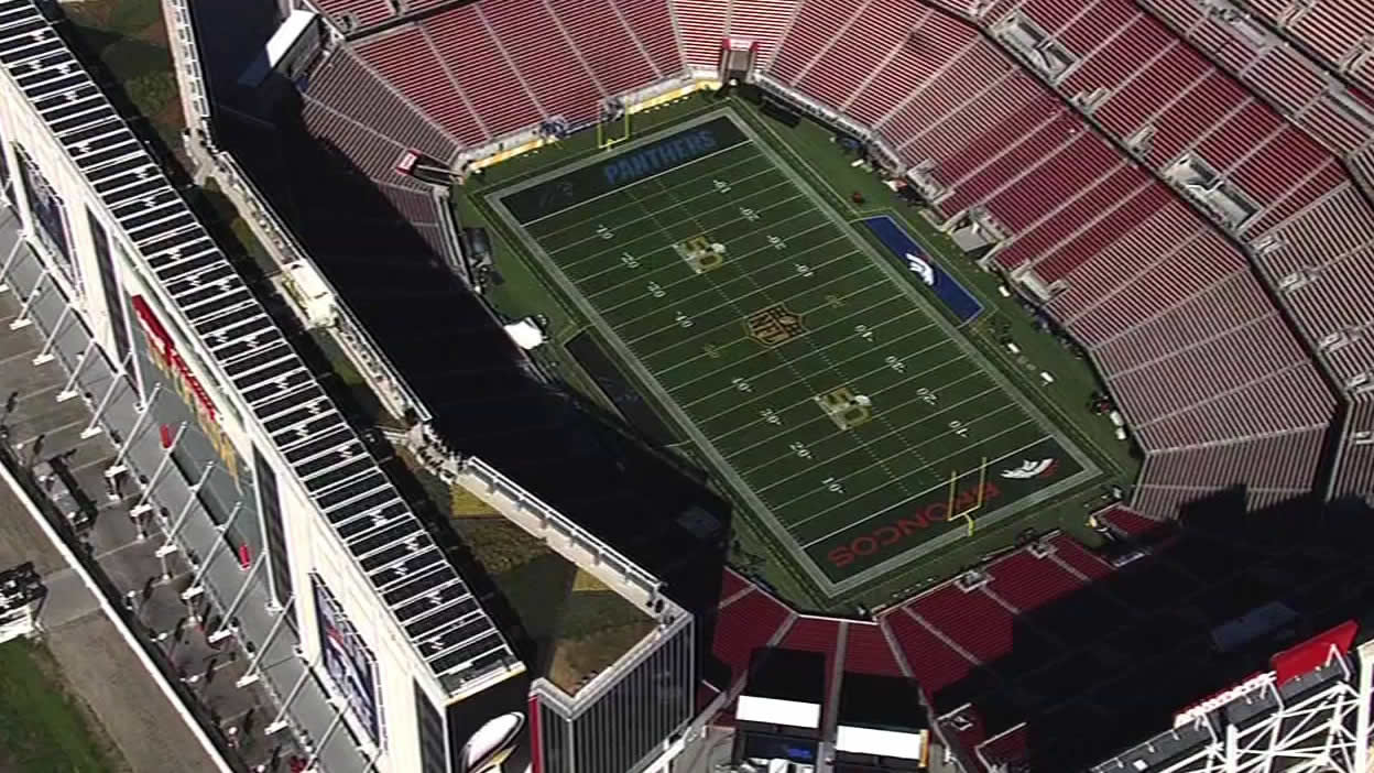 "<div class=""meta image-caption""><div class=""origin-logo origin-image none""><span>none</span></div><span class=""caption-text"">On Tuesday, Feb. 2, 2016 the turf is all set for Super Bowl 50 game day. (KGO-TV)</span></div>"