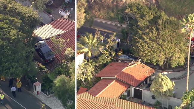 Outofcontrol Car Launches Onto Roof Of Palos Verdes Estates House - Palos verdes car show