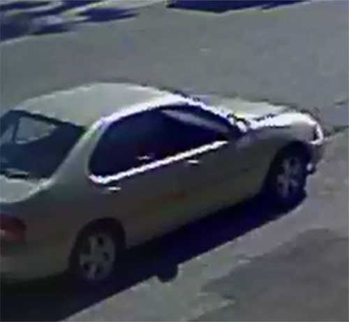 The car driven by a suspect in an armed robbery in El Monte is seen in a surveillance still image released by police.