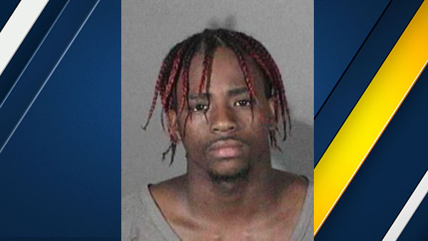 Kvon Devonte Harris, is seen in mugshot released by UCLA police.
