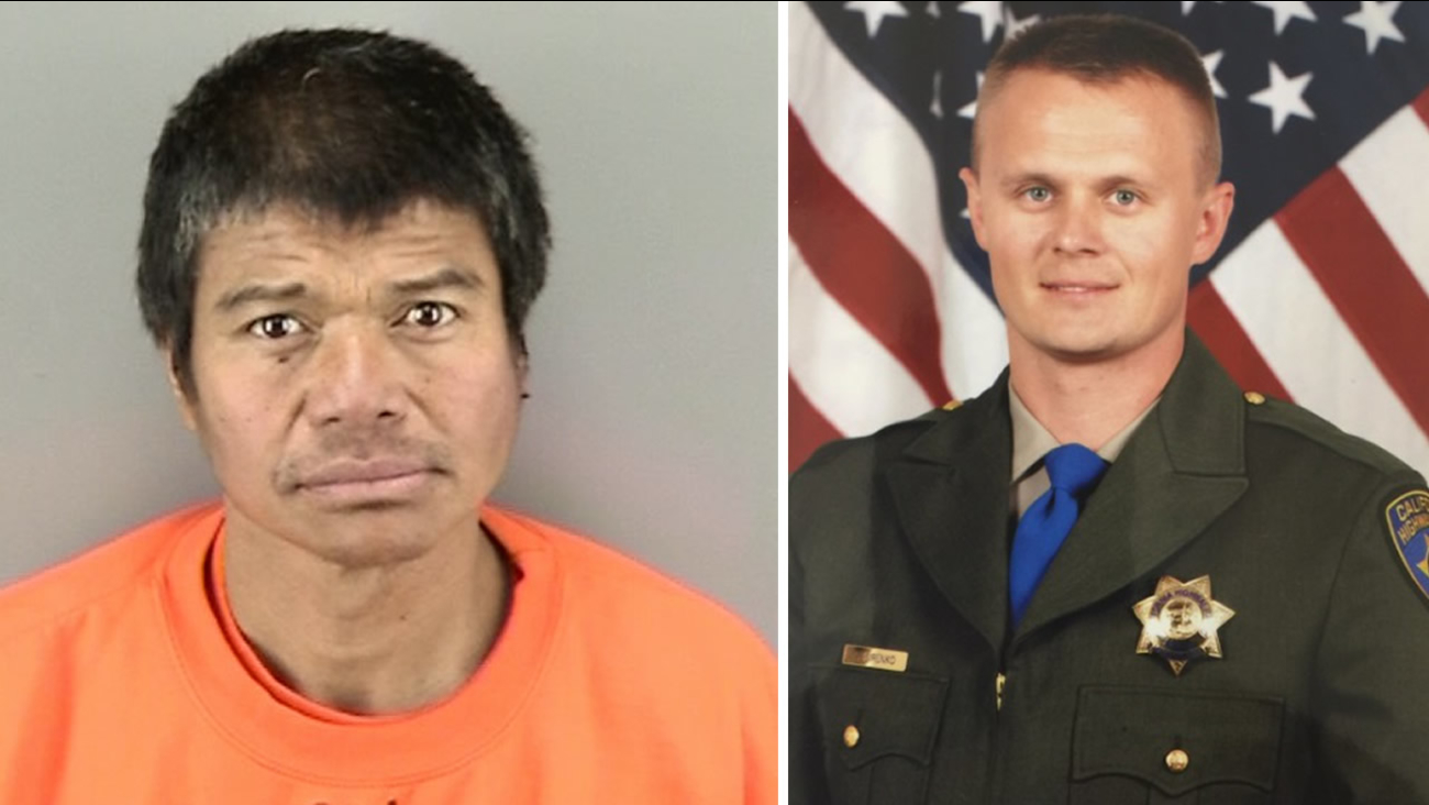 Noel-Corpuz, left, is accused of stabbing CHP Officer Andre-Sirenko, right, in San Francisco on Tuesday, February 2, 2016.