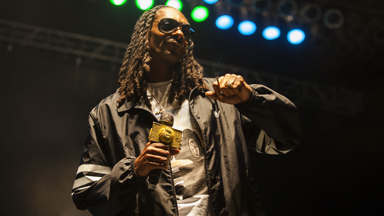 Snoop Dogg seen at Riot Fest & Carnival in Douglas Park on Sunday, Sept. 13, 2015 in Chicago. (Photo by Barry Brecheisen/Invision/AP)