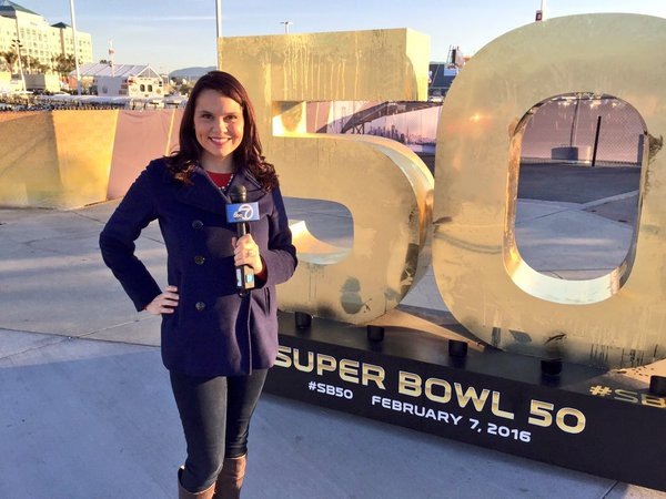 "<div class=""meta image-caption""><div class=""origin-logo origin-image none""><span>none</span></div><span class=""caption-text"">Elissa Harrington poses in front of a Super Bowl 50 sign at Levi's Stadium in Santa Clara, Calif. on Friday, February 5, 2016. (KGO-TV)</span></div>"