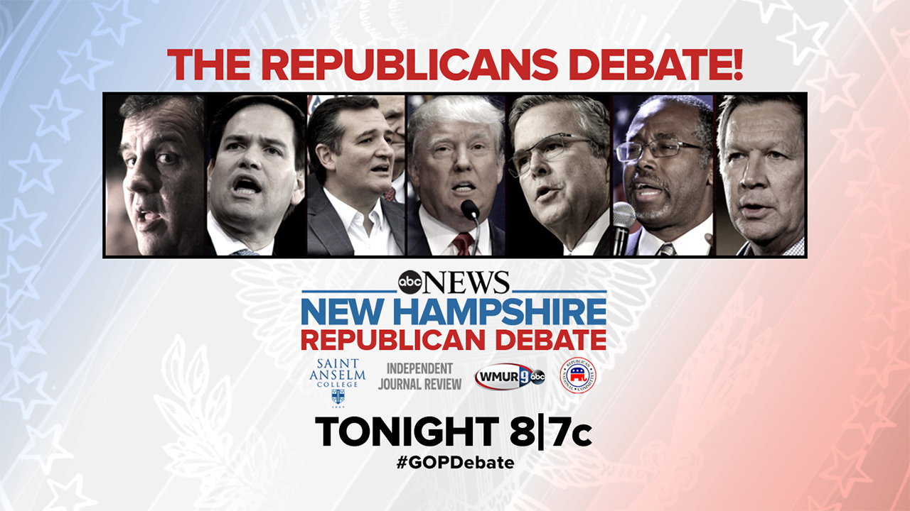 republican debate new Hampshire live