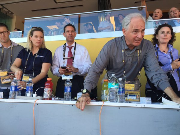 "<div class=""meta image-caption""><div class=""origin-logo origin-image none""><span>none</span></div><span class=""caption-text"">ABC7 News Sports Anchors Mike Shumann and Larry Beil are hard at work during Super Bowl 50 at Levi's Stadium in Santa Clara, Calif. on Sunday, February 7, 2016. (KGO-TV)</span></div>"