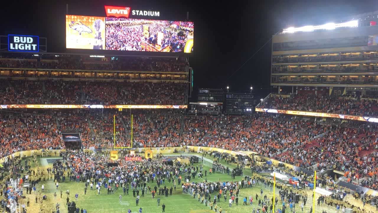 "<div class=""meta image-caption""><div class=""origin-logo origin-image none""><span>none</span></div><span class=""caption-text"">Football fans walk among confetti after Super Bowl 50 at Levi's Stadium in Santa Clara, Calif. on Sunday, February 7, 2016. (KGO-TV)</span></div>"