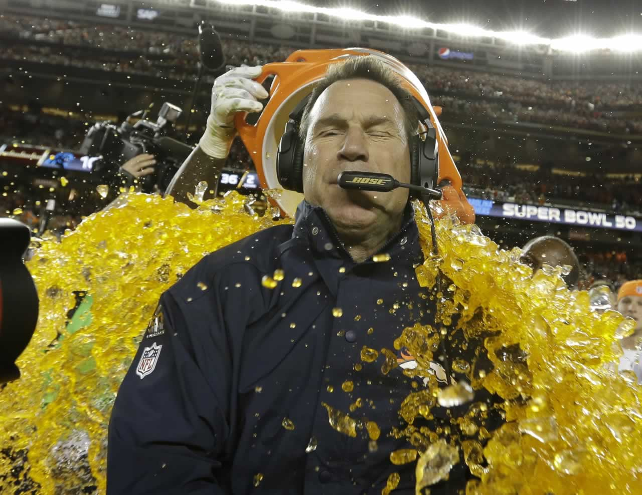"<div class=""meta image-caption""><div class=""origin-logo origin-image none""><span>none</span></div><span class=""caption-text"">Denver Broncos' head coach Gary Kubiak is doused with Gatorade during the second half of the NFL Super Bowl 50 football game Sunday, Feb. 7, 2016, in Santa Clara, Calif. (AP Photo/David J. Phillip)</span></div>"