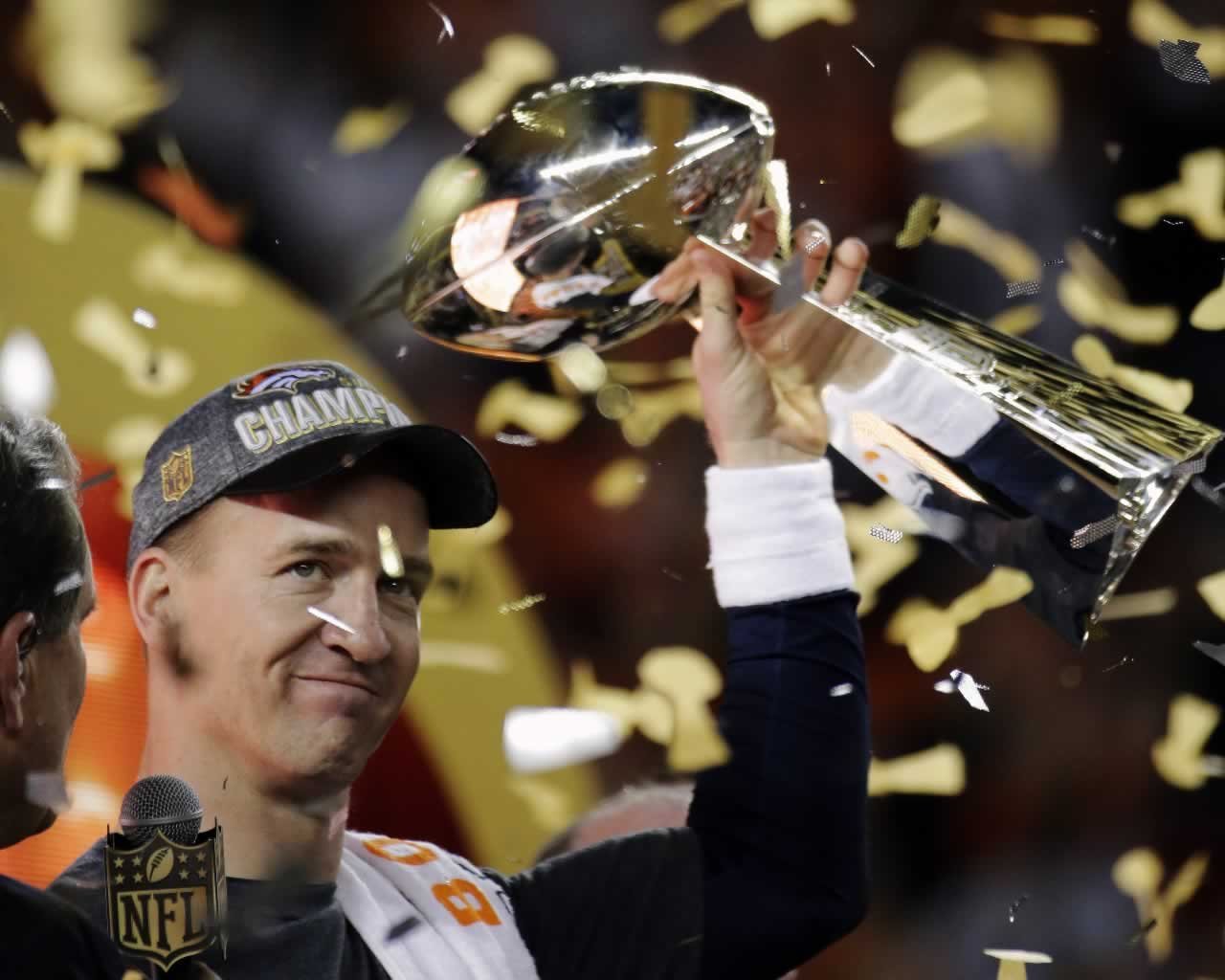 "<div class=""meta image-caption""><div class=""origin-logo origin-image none""><span>none</span></div><span class=""caption-text"">Broncos' Peyton Manning holds the Vince Lombardi Trophy after the NFL Super Bowl 50 football game Sunday, Feb. 7, 2016, in Santa Clara, Calif. (AP Photo/Julie Jacobson)</span></div>"