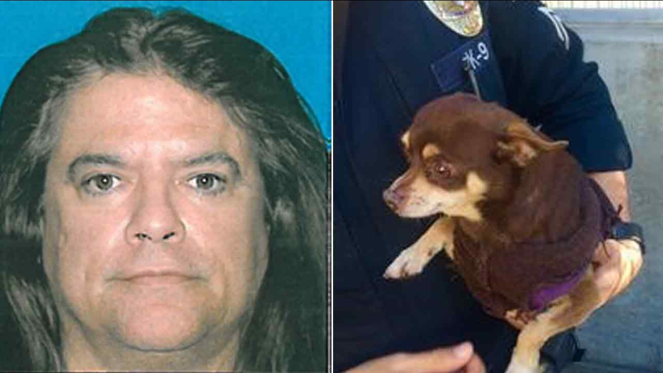 Christian Andrew Najera, 48, accused of abusing a Chihuahua inside a South Pasadena police station on Saturday, Feb. 6, 2016.