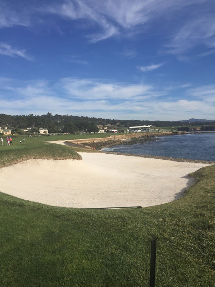 """<div class=""""meta image-caption""""><div class=""""origin-logo origin-image none""""><span>none</span></div><span class=""""caption-text"""">Here's a look at the 18th hole during the AT&T Pebble Beach Pro-Am in Pebble Beach, Calif. on Tuesday, February 9, 2016. (KGO-TV/Mike Shumann)</span></div>"""