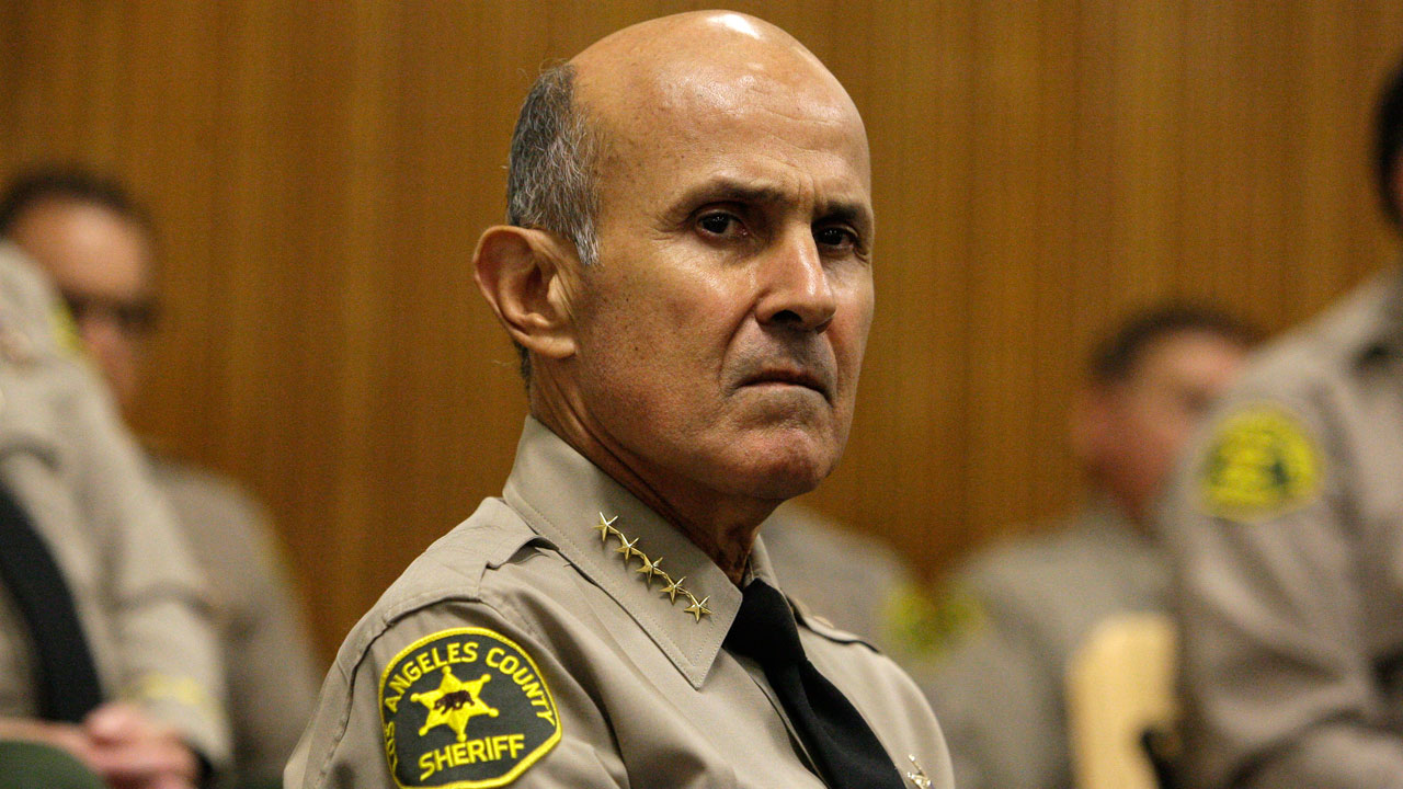 Former Los Angeles County Sheriff Lee Baca at the Men's Central Jail in downtown Los Angeles Wednesday, Oct. 3, 2012.