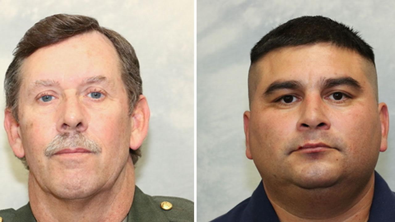 Tulare County Sheriff's Deputy Scott Ballantyne, 52, and Sheriff's pilot James Julio Chavez, 45, were killed in plane crash in Tulare County Feb. 10, 2016.