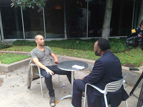 <div class='meta'><div class='origin-logo' data-origin='none'></div><span class='caption-text' data-credit='KTRK Photo'>HTGAWM star, Kendrick Sampson sits down with Eyewitness News reporter, Tracy Clemons</span></div>