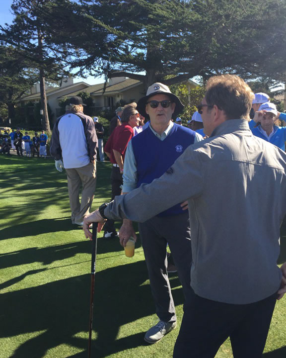 """<div class=""""meta image-caption""""><div class=""""origin-logo origin-image none""""><span>none</span></div><span class=""""caption-text"""">Actor-comedian Bill Murray talks to musician Huey Lewis at the 3M Celebrity Challenge at the AT&T Pebble Beach Pro-Am on Wednesday, February 10, 2016. (KGO-TV/Mike Shumann)</span></div>"""