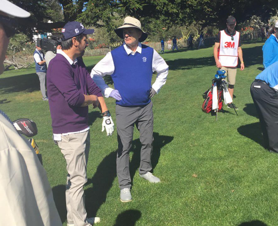 """<div class=""""meta image-caption""""><div class=""""origin-logo origin-image none""""><span>none</span></div><span class=""""caption-text"""">Actor-comedian Ray Romano talks to actor-comedian Bill Murray at the 3M Celebrity Challenge at the AT&T Pebble Beach Pro-Am on Wednesday, February 10, 2016. (KGO-TV/Mike Shumann)</span></div>"""
