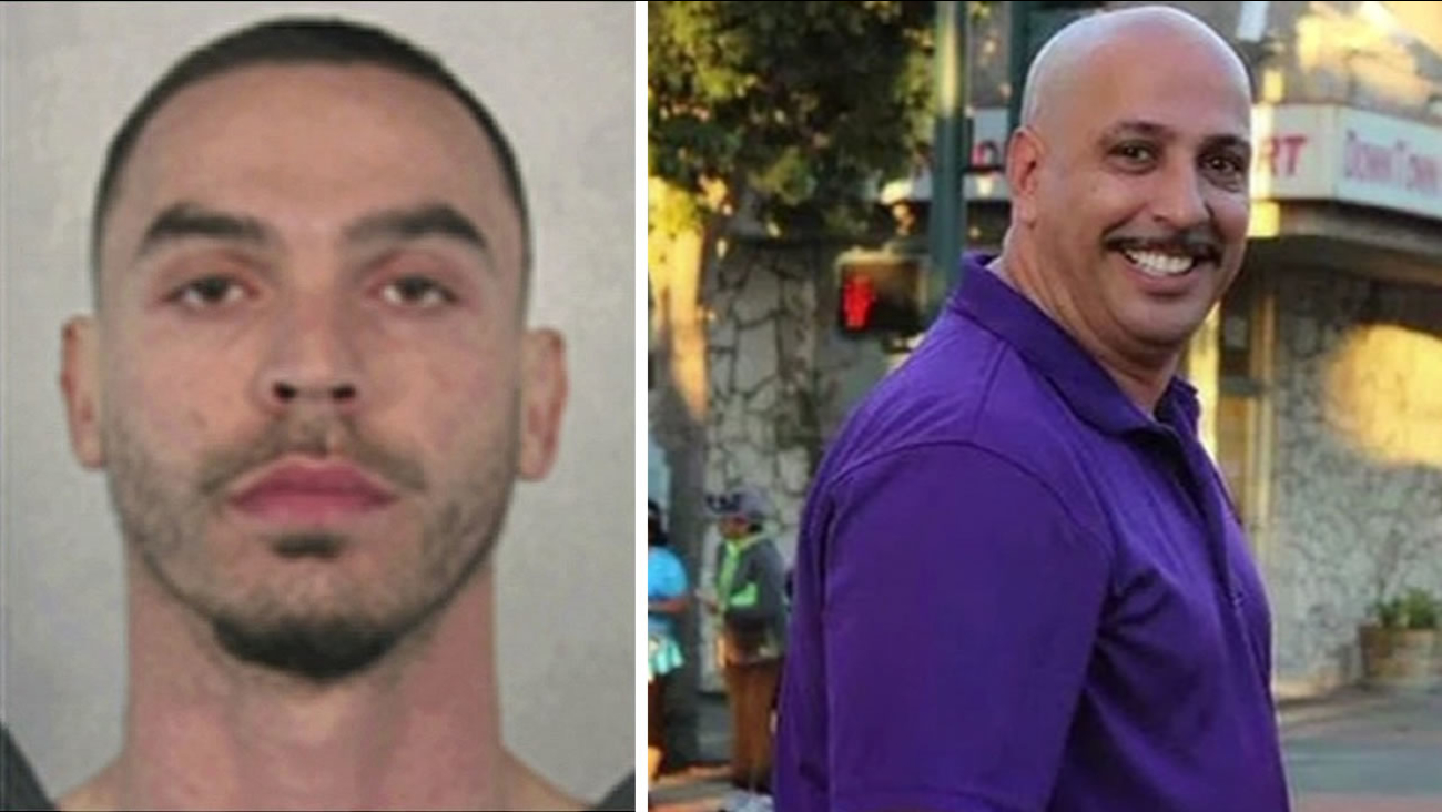 Robert Vega and off-duty Richmond police Officer Gus Vegas