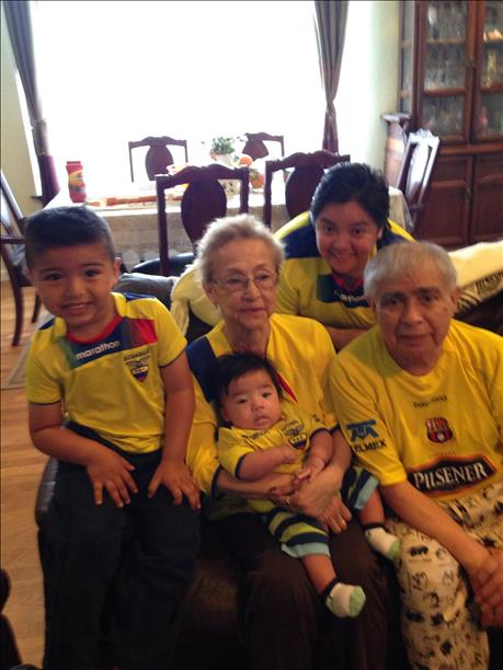 "<div class=""meta image-caption""><div class=""origin-logo origin-image ""><span></span></div><span class=""caption-text"">SF's very own Parada family - 3 generations - representing Ecuador!  World Cup celebrations are happening all around the Bay Area. Send your photos to uReport@kgo-tv.com! (photo submitted by Alex Parada via uReport)</span></div>"