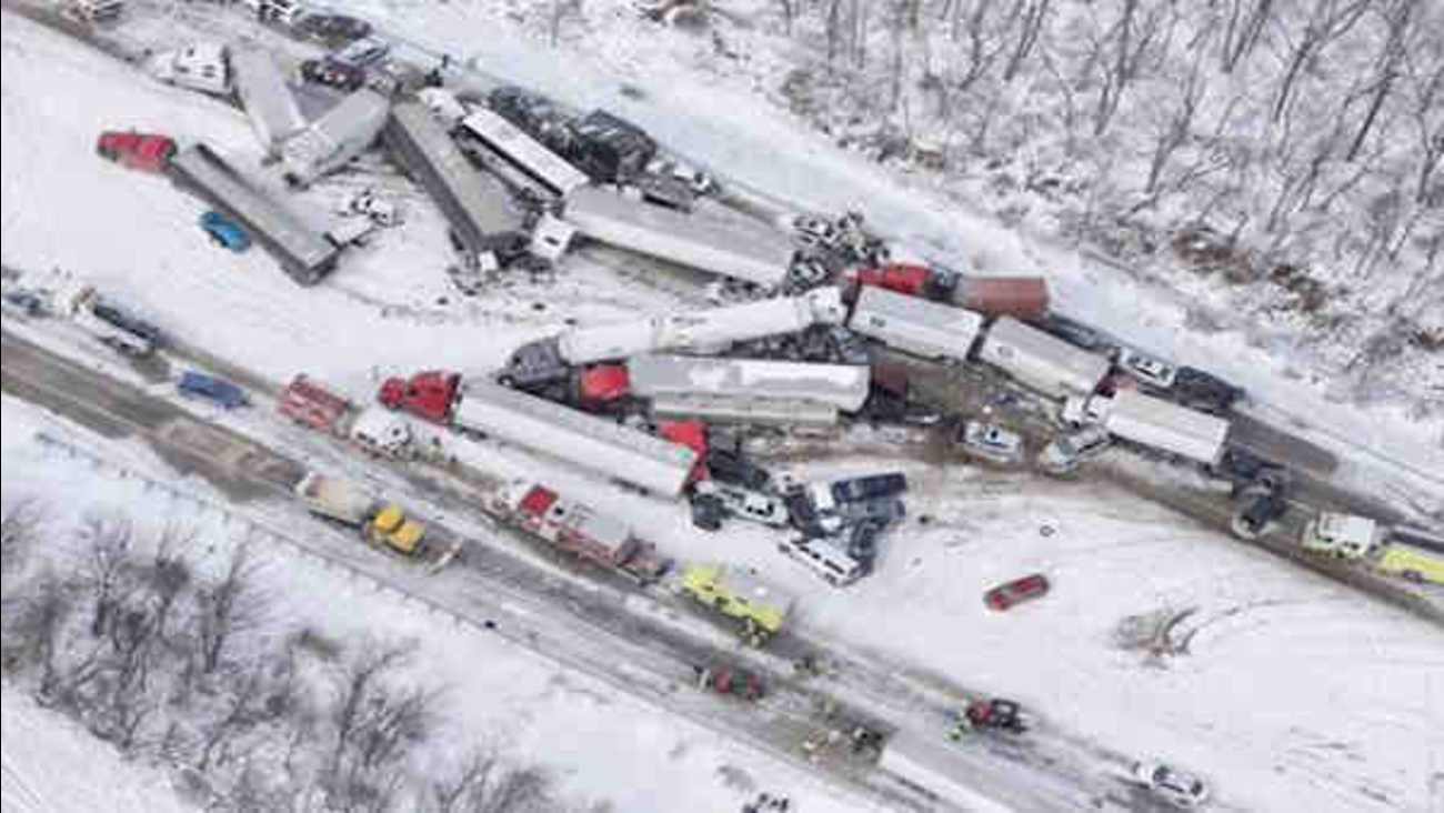 Multiple Fatalities After 50 Car Pileup On I 78 In Pennsylvania