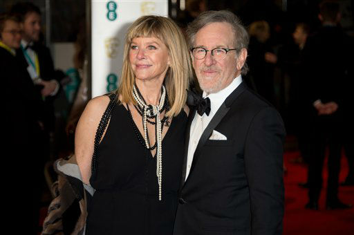 "<div class=""meta image-caption""><div class=""origin-logo origin-image none""><span>none</span></div><span class=""caption-text"">Steven Spielberg and Kate Capshaw pose for photographers upon arrival. (Jonathan Short)</span></div>"