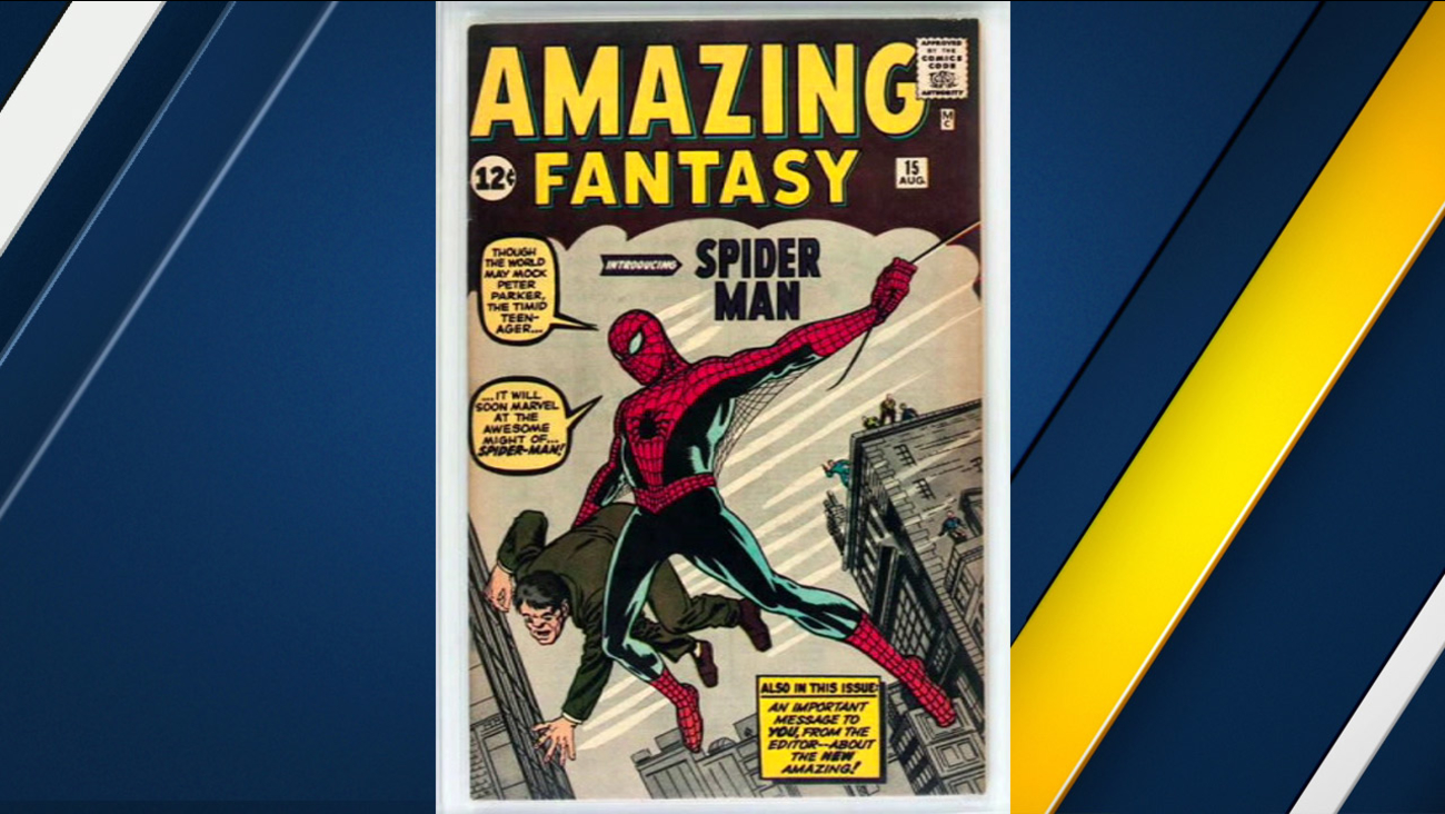 A rare Spider-Man comic book that is going up for auction is shown in an undated photo.