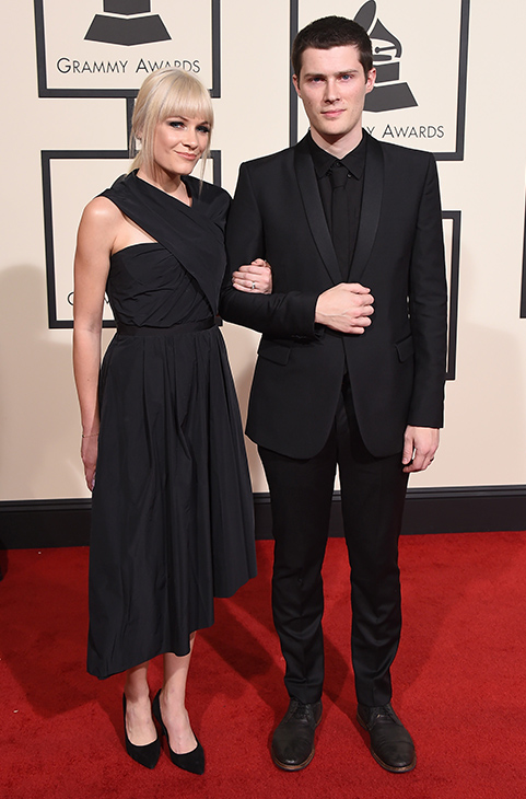 "<div class=""meta image-caption""><div class=""origin-logo origin-image ap""><span>AP</span></div><span class=""caption-text"">Liz Anjos, left, and Andre Anjos arrive at the 58th annual GRAMMY Awards at the Staples Center on Monday, Feb. 15, 2016, in Los Angeles. (Jordan Strauss/Invision/AP)</span></div>"