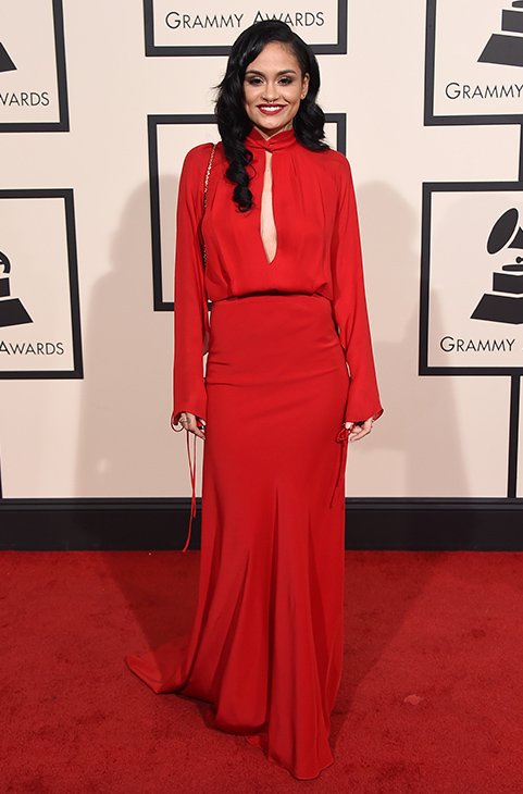 "<div class=""meta image-caption""><div class=""origin-logo origin-image ap""><span>AP</span></div><span class=""caption-text"">Kehlani arrives at the 58th annual Grammy Awards at the Staples Center on Monday, Feb. 15, 2016, in Los Angeles. (Jordan Strauss/Invision/AP)</span></div>"