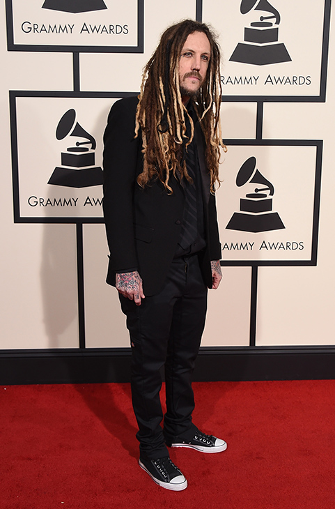 "<div class=""meta image-caption""><div class=""origin-logo origin-image ap""><span>AP</span></div><span class=""caption-text"">Brian ""Head"" Welch arrives at the 58th annual Grammy Awards at the Staples Center on Monday, Feb. 15, 2016, in Los Angeles. (Jordan Strauss/Invision/AP)</span></div>"