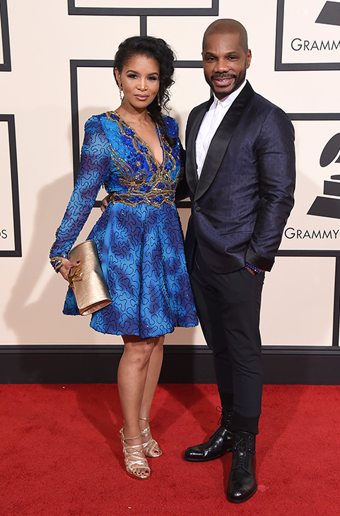 "<div class=""meta image-caption""><div class=""origin-logo origin-image ap""><span>AP</span></div><span class=""caption-text"">Kirk Franklin, right, and Tammy Collins arrive at the 58th annual Grammy Awards at the Staples Center on Monday, Feb. 15, 2016, in Los Angeles. (Jordan Strauss/Invision/AP)</span></div>"