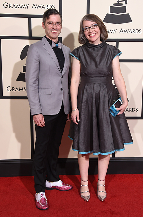 "<div class=""meta image-caption""><div class=""origin-logo origin-image ap""><span>AP</span></div><span class=""caption-text"">Billy Kelly, left, and Molly Ledford arrive at the 58th annual Grammy Awards at the Staples Center on Monday, Feb. 15, 2016, in Los Angeles. (Jordan Strauss/Invision/AP)</span></div>"