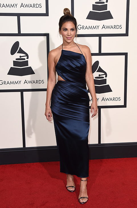 "<div class=""meta image-caption""><div class=""origin-logo origin-image ap""><span>AP</span></div><span class=""caption-text"">Liz Hernandez arrives at the 58th annual Grammy Awards at the Staples Center on Monday, Feb. 15, 2016, in Los Angeles. (Jordan Strauss/Invision/AP)</span></div>"