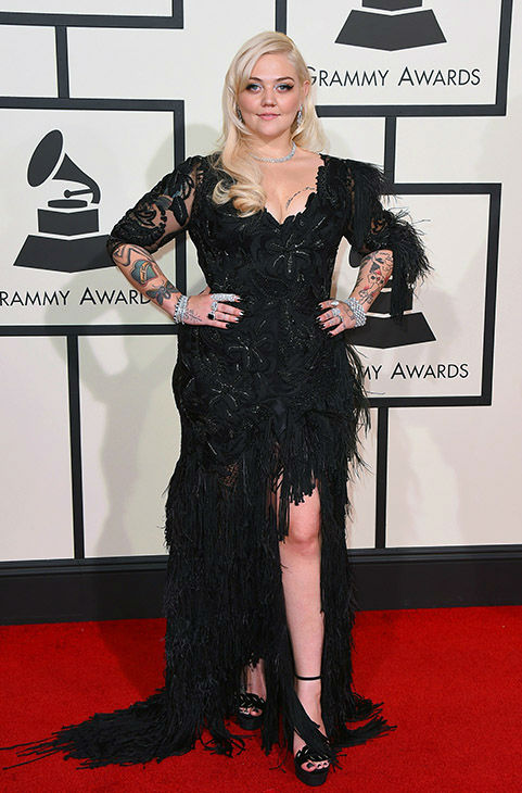 "<div class=""meta image-caption""><div class=""origin-logo origin-image none""><span>none</span></div><span class=""caption-text"">Elle King arrives at the 58th annual Grammy Awards at the Staples Center on Monday, Feb. 15, 2016, in Los Angeles. (Jordan Strauss/Invision/AP)</span></div>"