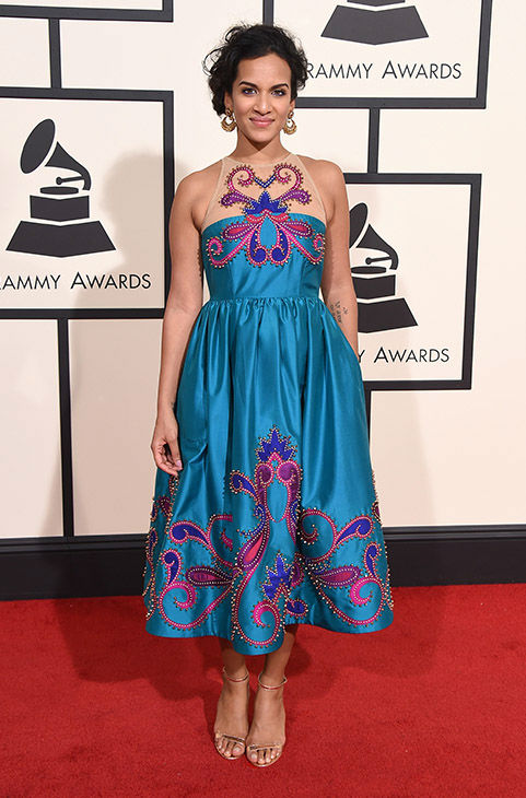 "<div class=""meta image-caption""><div class=""origin-logo origin-image none""><span>none</span></div><span class=""caption-text"">Anoushka Shankar arrives at the 58th annual Grammy Awards at the Staples Center on Monday, Feb. 15, 2016, in Los Angeles. (Jordan Strauss/Invision/AP)</span></div>"