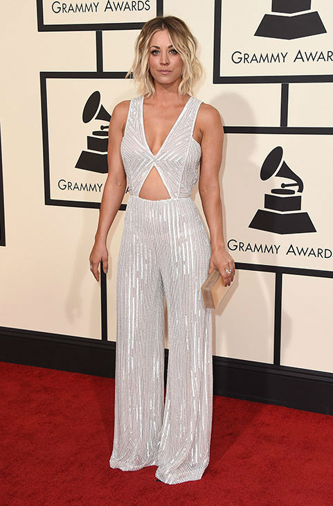 "<div class=""meta image-caption""><div class=""origin-logo origin-image none""><span>none</span></div><span class=""caption-text"">Kaley Cuoco arrives at the 58th annual Grammy Awards at the Staples Center on Monday, Feb. 15, 2016, in Los Angeles. (Jordan Strauss/Invision/AP)</span></div>"
