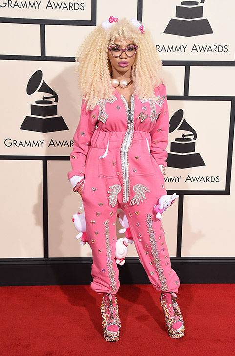 "<div class=""meta image-caption""><div class=""origin-logo origin-image none""><span>none</span></div><span class=""caption-text"">Dencia arrives at the 58th annual Grammy Awards at the Staples Center on Monday, Feb. 15, 2016, in Los Angeles. (Jordan Strauss/Invision/AP)</span></div>"